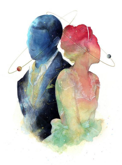 """""""The probability of separate worlds meeting is very small. The lure of it is immense. We send starships. We fall in love."""" - Jeanette Winterson"""